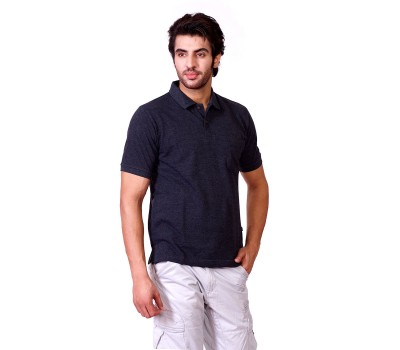 Polo Neck Solid Half Sleeve T-Shirt