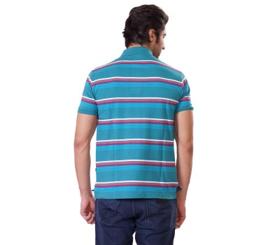 Multi Color Polo Neck T shirt